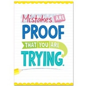 Mistakes are proof that you are Trying Poster  (0315)