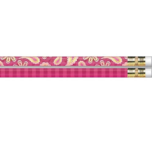 12pk Paisley Pink Pencils  (52136)