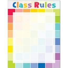 Class Rules Rainbow Coloured Blank Chart  (1127)