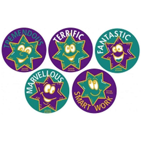 Green/Purple Star Metallic Multi Pack Stickers  (350)