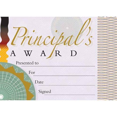 20pk Principals Award Certificates  (5420)
