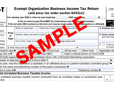 Form 990-T Filing Requirements When UBIT is Generated in a Self-Directed Solo 401(k)