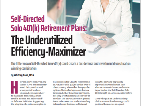 Today's CPA's March/April Issue Includes a Feature Article by Whitney Nash