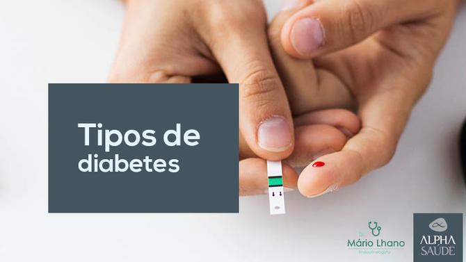 Resumo geral sobre os tipos de diabetes  e as suas características principais