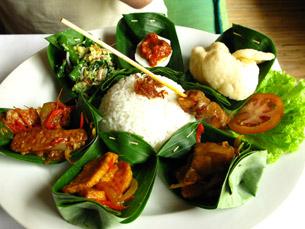 Nasi Campur Bali, Plat typique balinais