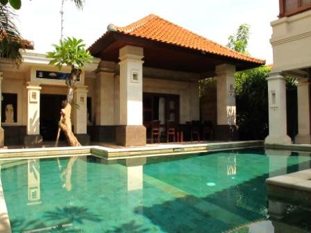 Our villa and its pool