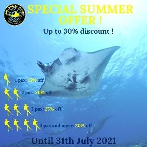 Plongée : promotions juillet