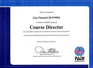 PADI Course Director in Bali