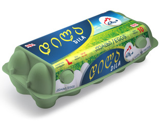 """""""დილა""""-ს კვერცხი ეკოლოგიურად სუფთა შეფუთვაში"""