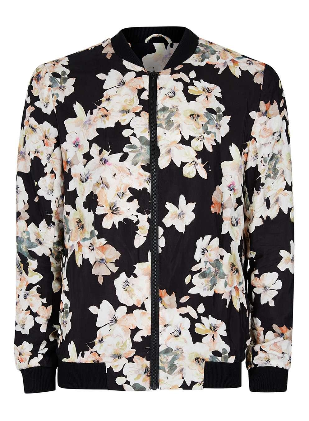 Topman: Floral Bomber Jacket