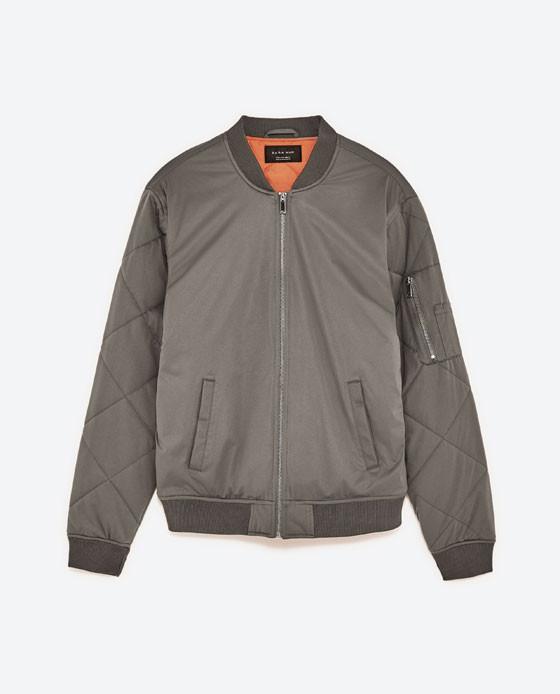 Zara: Grey Bomber Jacket
