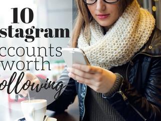10 Instagram Accounts worth Following