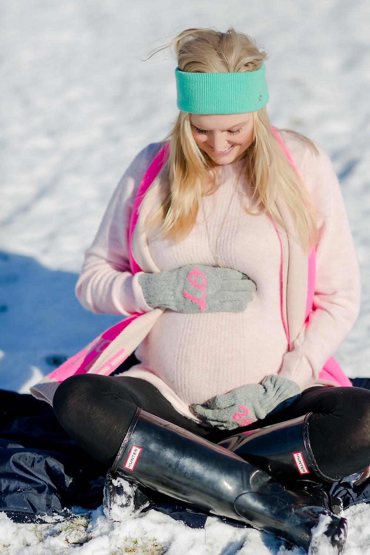 Blissfully Boyce Blog Christina Boyce Lifestyle Blogger Snow Day Maternity Photos