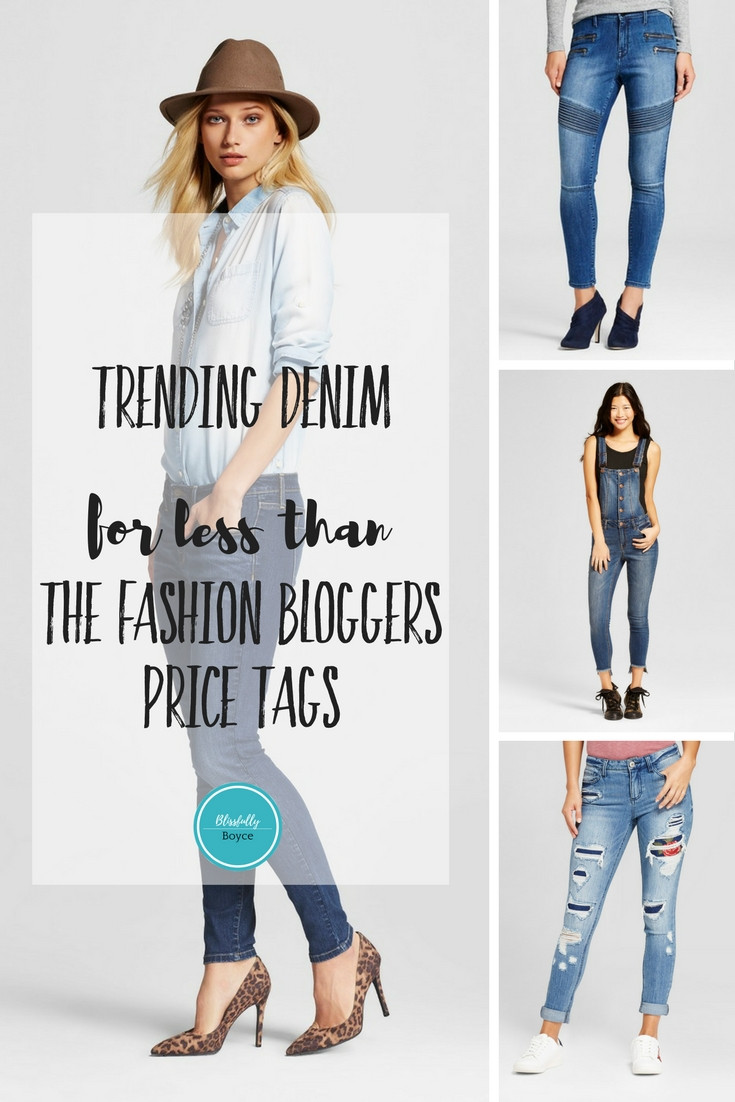 Blissfully Boyce Blog Trending Denim at Target Womens Fashion