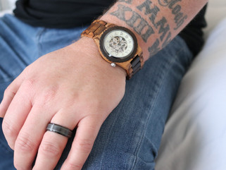 His JORD wood watch will last longer than a rose