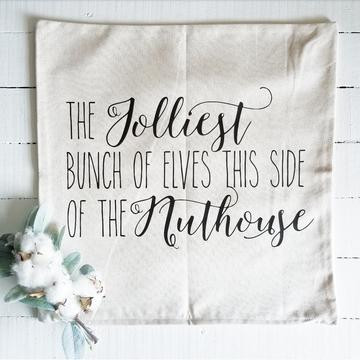 https://shoptherusticroost.com/products/jolliest-bunch-of-elves-pillow-cover
