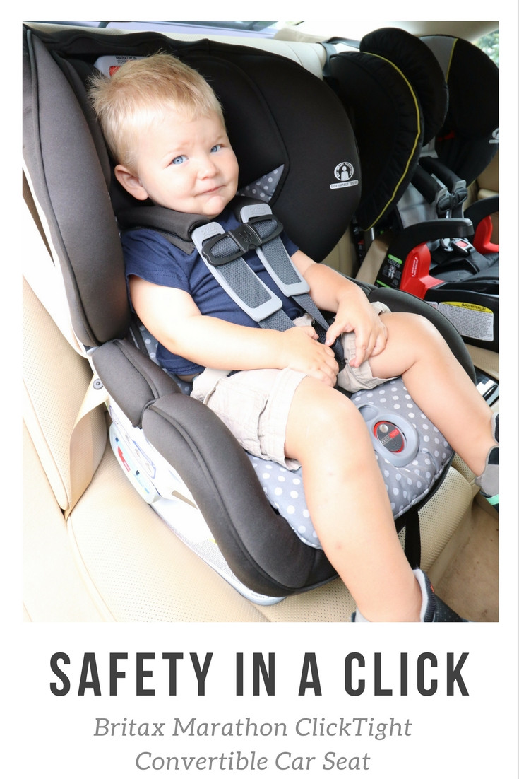 Britax ClickTight Convertible Car Seat Review- Safety in a Click blissfullyboyce.com