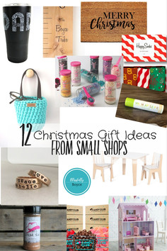 12 Christmas Gift Ideas from Small Shops