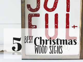 5 Best Christmas Wood Signs for the Home