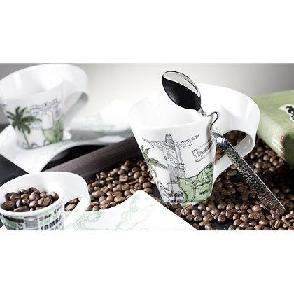 NEWWAVE CAFFE - SPOON CUCHARA ESPRESSO BA?O DE ORO, 12 CM