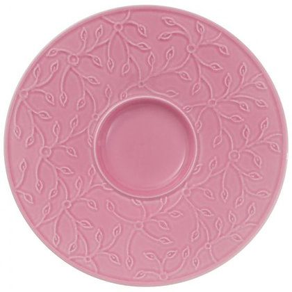 CAFFE CLUB FLORAL TOUCH ROSE PLATO PARA TAZA CAFE 14 CM
