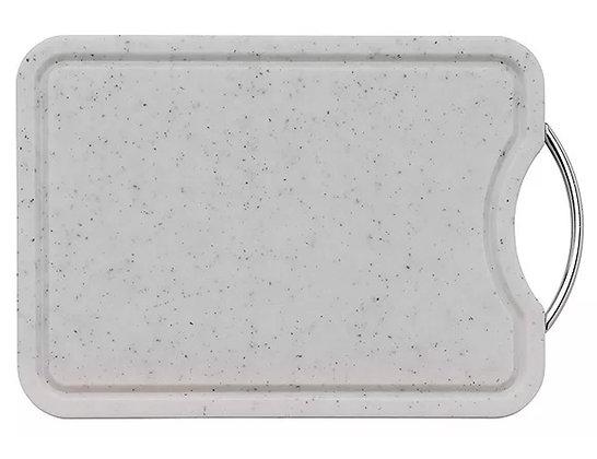 TABLA PARA PICAR 36X26 CM, PLASTICO Y ACERO KUCHENPROFI