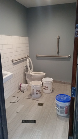 restroom before