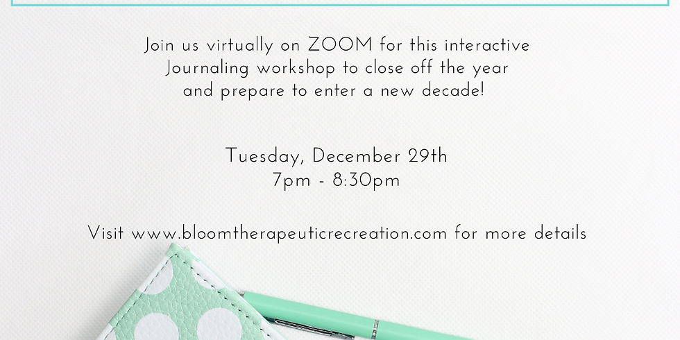 Special Edition- Reflecting on 2020 - Journaling Workshop