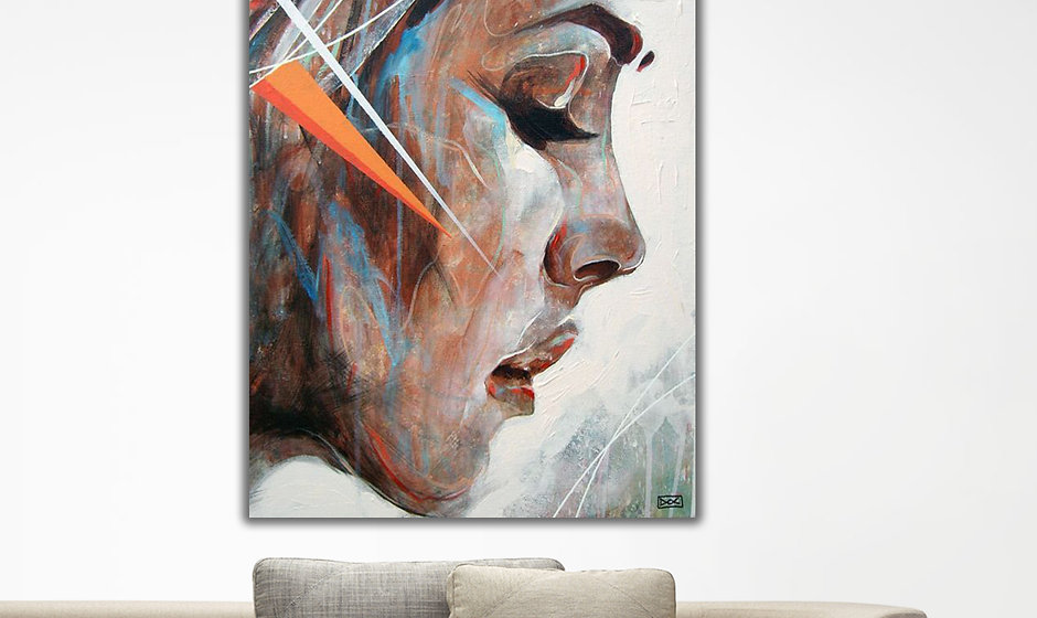 Woman Face canvas