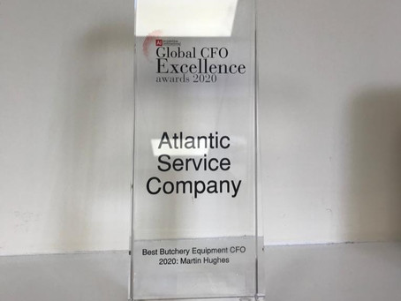 ATLANTIC SERVICE COMPANY CFO WINS GLOBAL EXCELLENCE AWARD