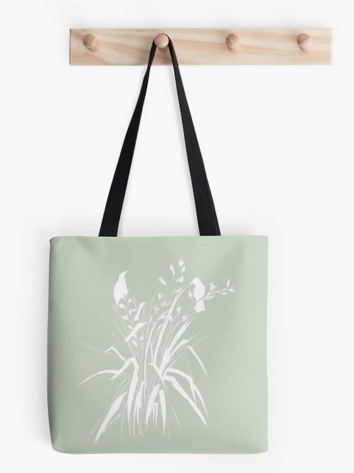 'Harakeke' Tote Bag- Pale Sage