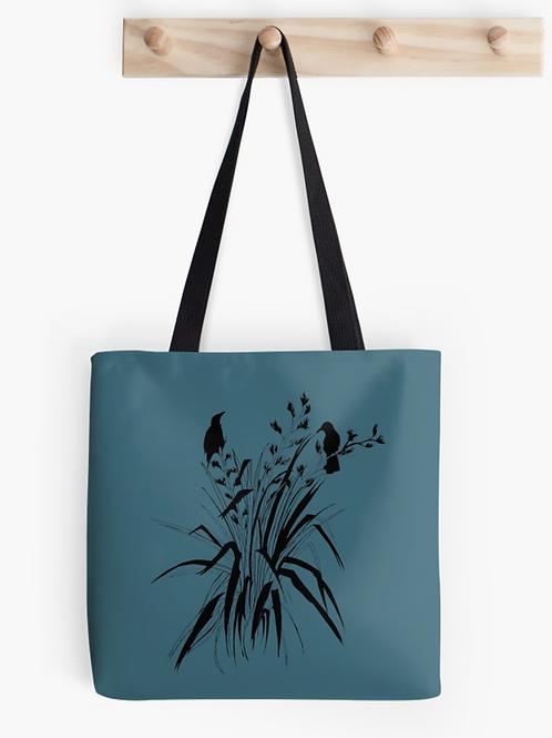 'Harakeke' Tote Bag- Blue