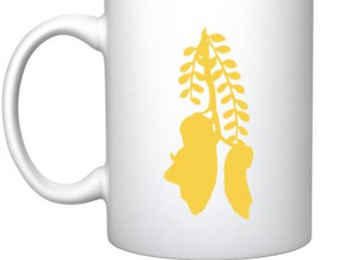 Kowhai on White Mug