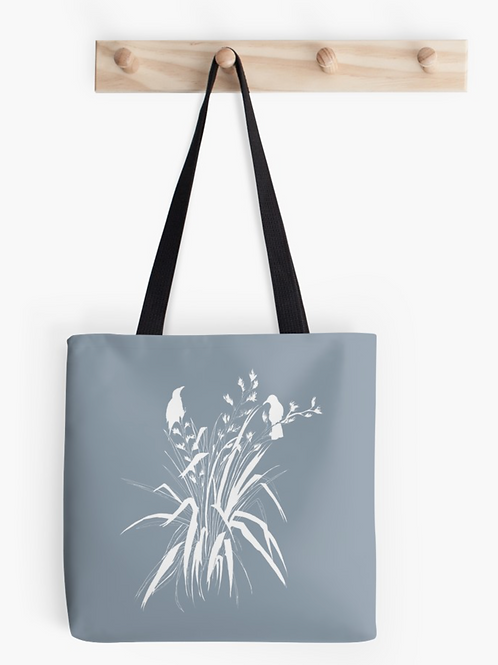 'Harakeke' Tote Bag- Pale Blue
