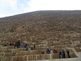 Climbing to the top of the Great Pyramid