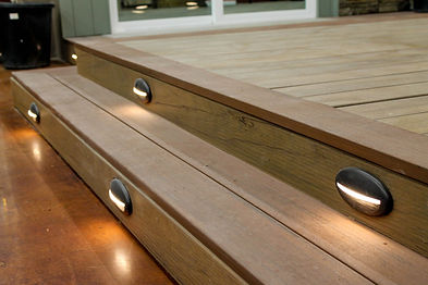 Outdoor lighting desiged by California Deck Pros the San Diego Deck Builder. Custom design and quality material.