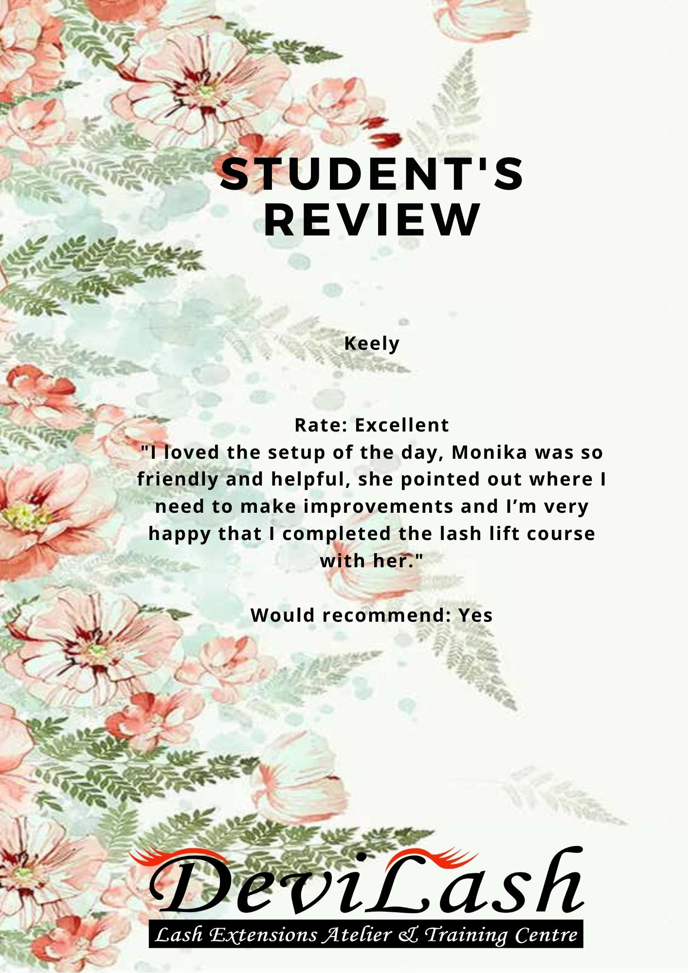 Copy of Student's Review