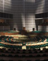 National Parliament Building by Louis I Kahn