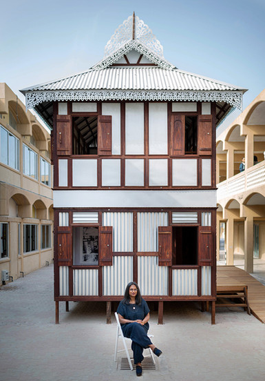 Architect Marina Tabassum in Sharjah Architecture Triennial 2019
