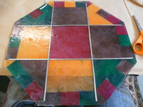 Prop Stained Glass Window