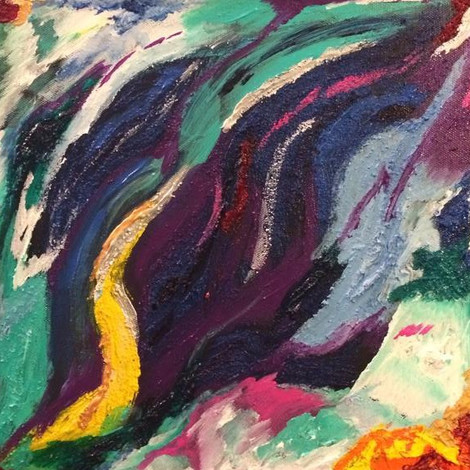 """Acrylic on Canvas 12"""" by 12"""" Summer 2013"""