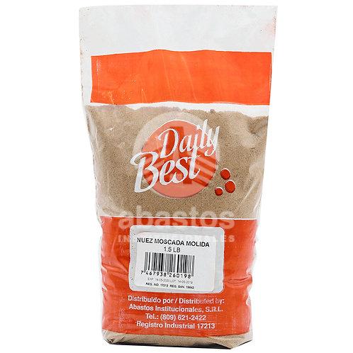 Nuez Moscada Molida Premium 1.500 lb Daily Best