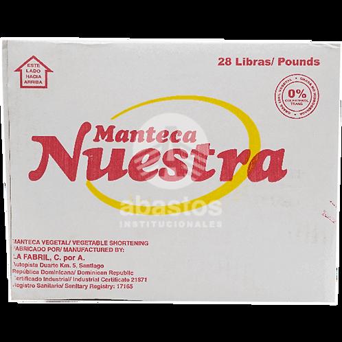 Manteca Vegetal 28 lb Nuestra