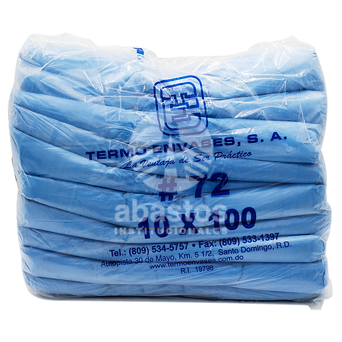 Fundas T-shirt Azules #72 100 ud Termo Envases