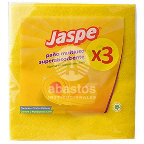 Pano Multiusos Amarillo 3 ud Jaspe