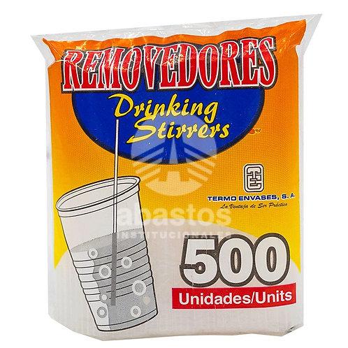 Removedores Plasticos para Bebidas 500 ud Termo Envases