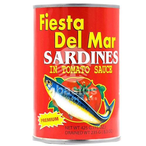 Sardinas En Salsa de Tomate 15 oz Fiesta Del Mar