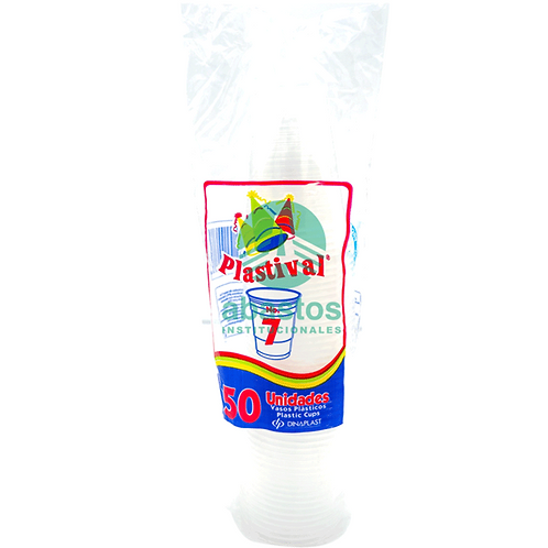 Vasos Clear (pp) 7 oz 50 ud Silvemax