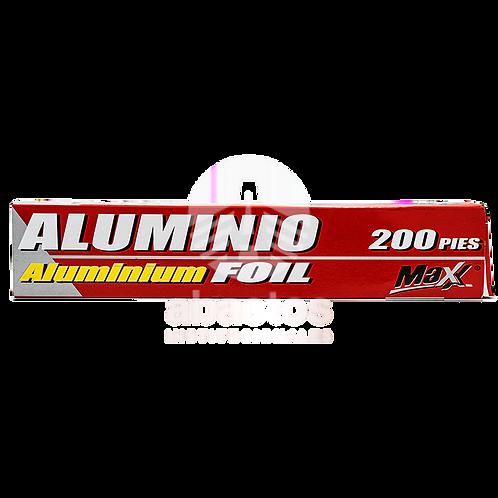 "Papel Aluminio 12""x200' 1 ud Aluplus"