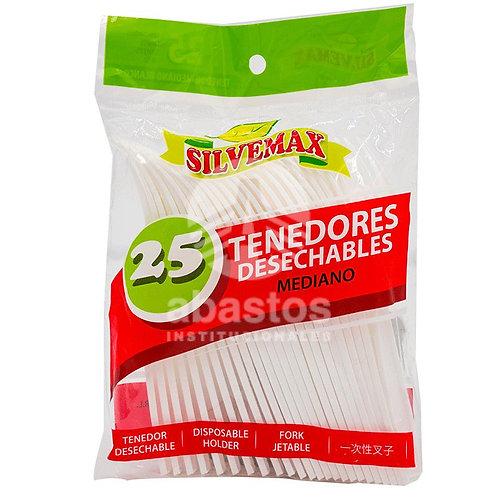 Tenedores Empacados 25 ud Silvemax